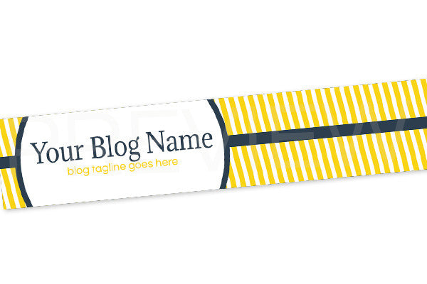 Blog Header Banner Design - Blue and Yellow PSYGB2
