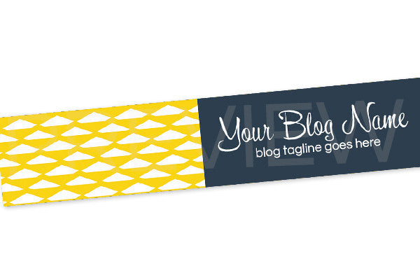 Blog Header Banner Design - Yellow and Blue PSYGB6