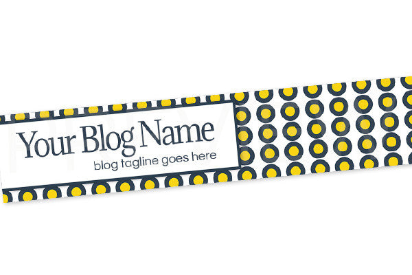 Blog Header Banner Design - Yellow and Blue PSYGB7