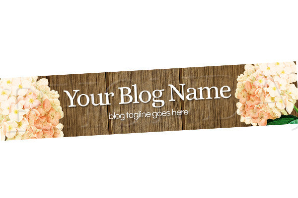 Floral Blog Header Banner - Floral PS9