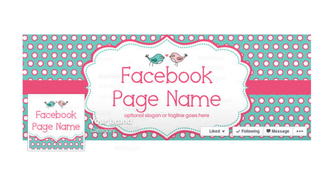 Facebook Banner - Facebook Timeline Cover with Profile Picture - Birdie Dots