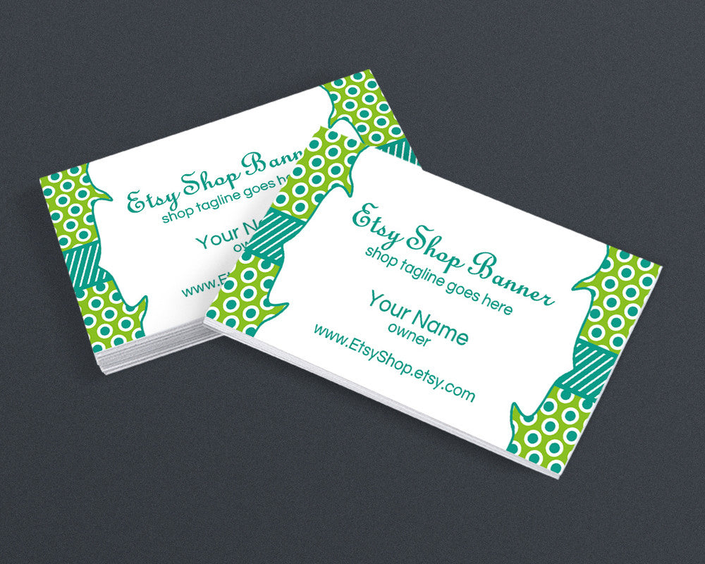 Polka Dots 3b - Printable Business Card Design