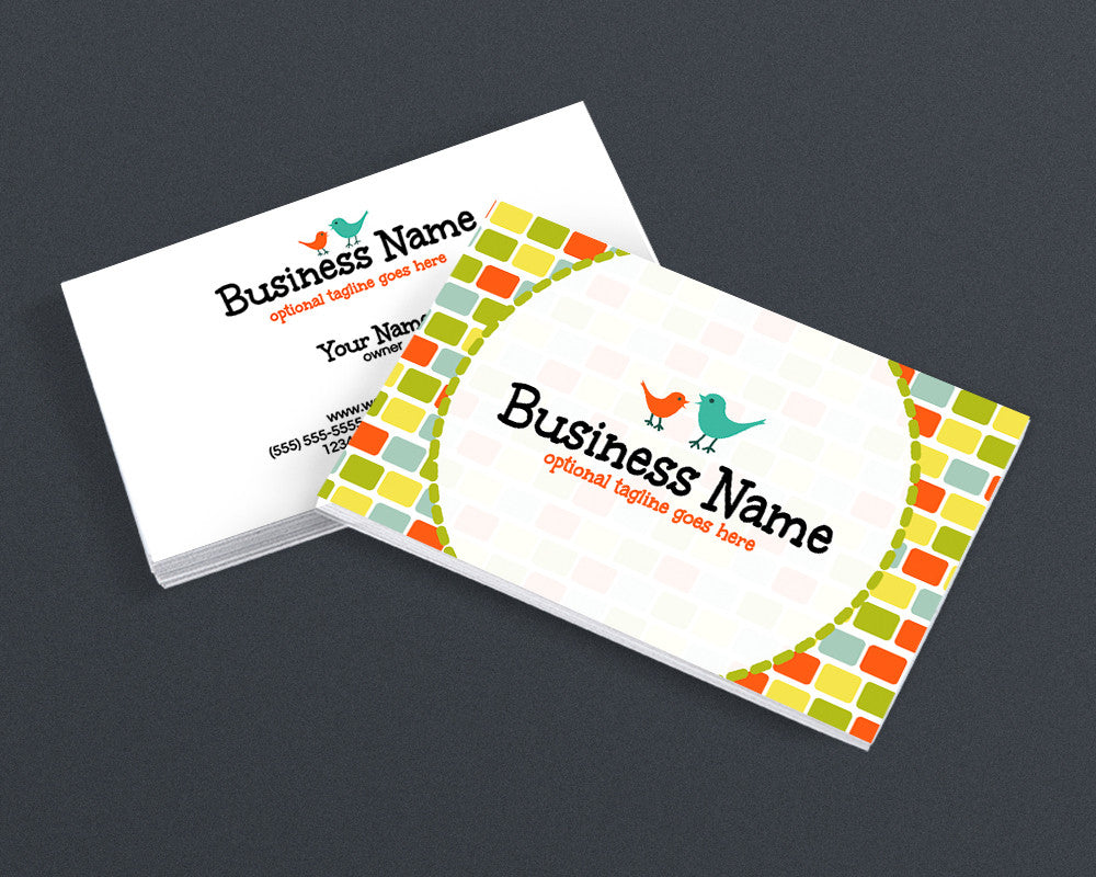 Birds 3 - 2 Sided Business Card Design