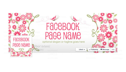 Facebook Banner - Facebook Timeline Cover with Profile Picture - Katrina 2