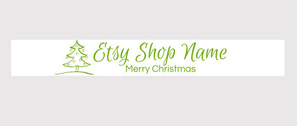 Christmas Banners 5 - Etsy Shop Banner