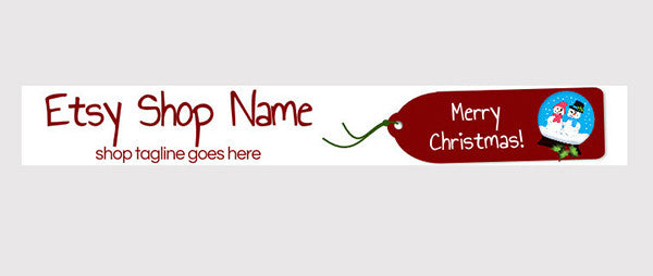 Christmas Banners 8 - Etsy Shop Banner