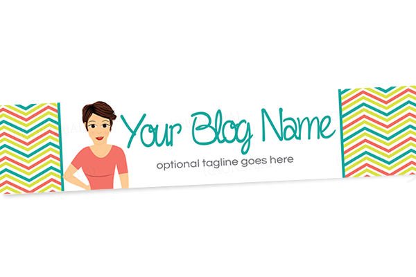 Blog Header Banner Design - Female Cartoon Character Five