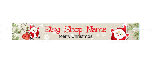 Christmas Etsy Shop Banner - 135