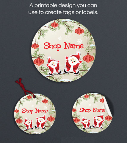 Christmas Label or Hang Tag Design - Christmas 135