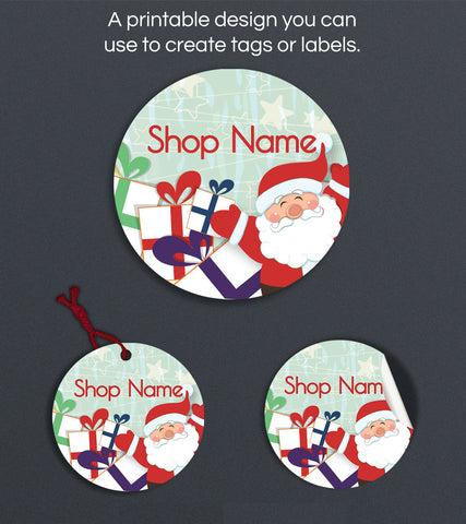 Christmas Label or Hang Tag Design - Christmas 136