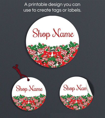 Christmas Label or Hang Tag Design - Christmas