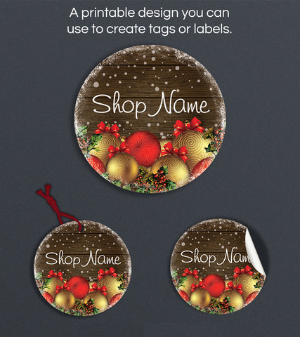 Christmas Label or Hang Tag Design - Christmas 25