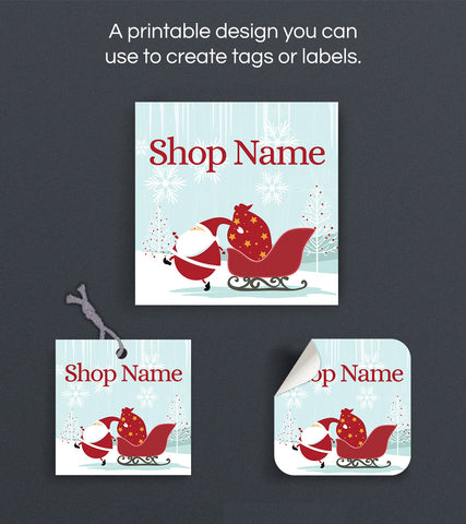 Christmas Label or Hang Tag Design - Christmas 144