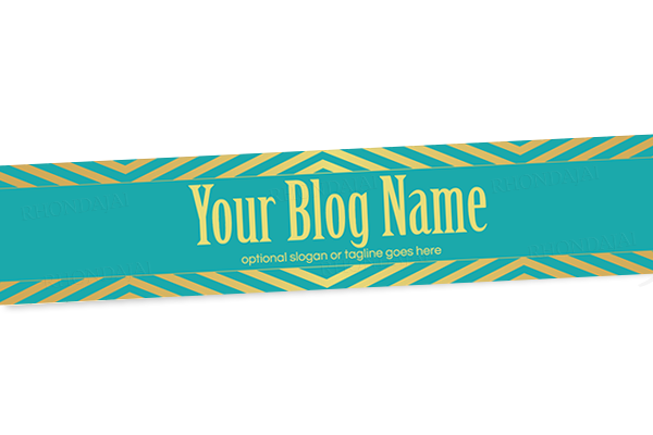 Blog Header Banner Design - Golden Turquoise
