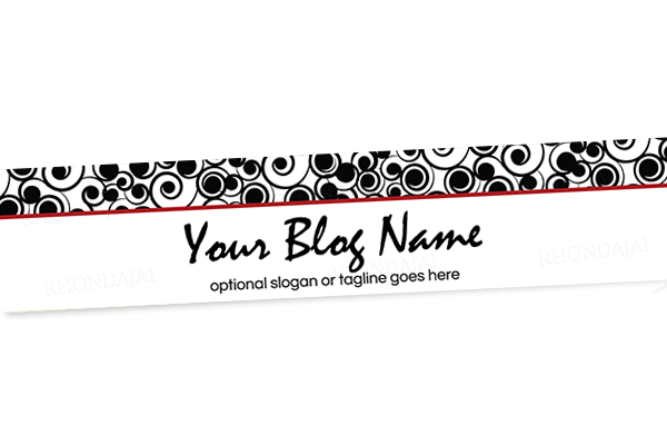 Blog Header Banner Design - Stylish Swirls