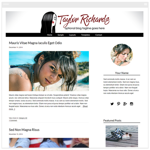 Blog Design -  Mobile Responsive WordPress Theme - Genesis Child Theme and Framework - Taylor