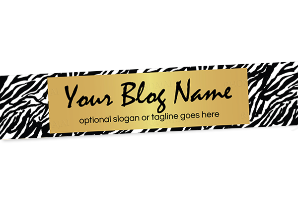 Blog Header Banner Design - Zebra Chic