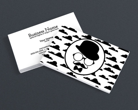 Creative Business Card Design - Cool Hipster Dude - 4a