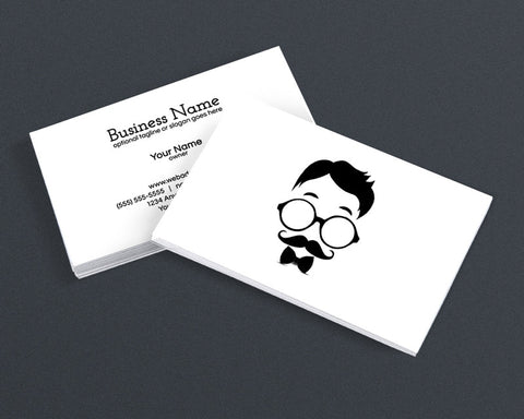 Modern Business Card Design - Cool Hipster Dude - 4c