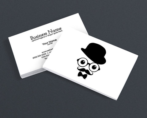 Cool Modern Business Card Design - Cool Hipster Dude - 4f