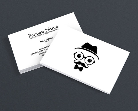 Cool Modern Business Card Design - Cool Hipster Dude - 4g
