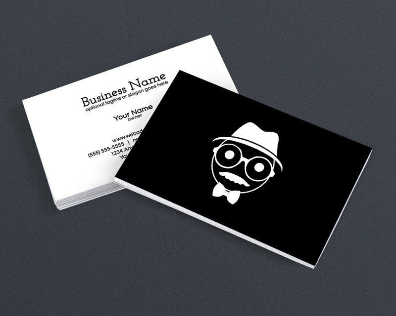 Cool Modern Business Card Design - Cool Hipster Dude - 4h
