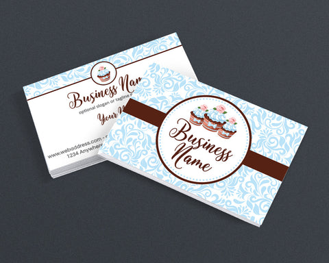 Bakery Business Card Design - Pastry Chef Business Card Design - 2 Sided Business Card Design - Cupcake Delight 3