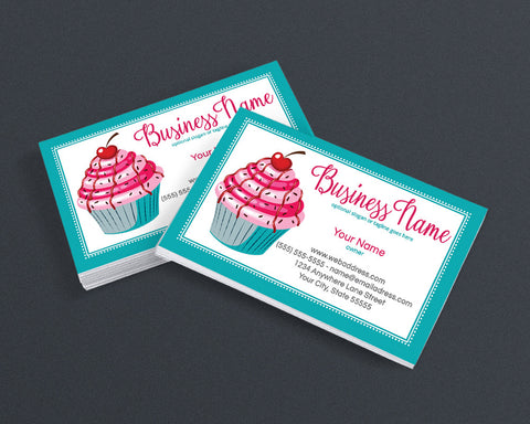 Bakery Business Card Design - Cupcake Business Card Design - Cupcake Delight 1