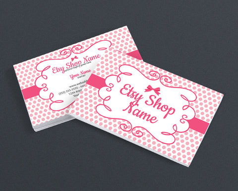 Pink Business Card Design - 2 Sided Business Card Design - Judy