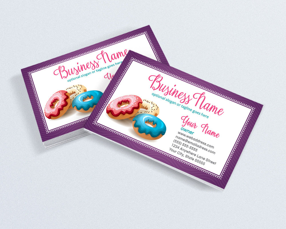 Bakery Business Card Design - Chef Business Card Design -  Doughnuts Donuts Business Card Design - Donuts 3