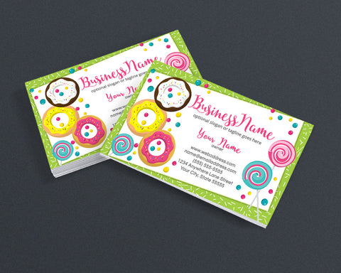 Bakery Business Card Design - Chef Business Card Design -  Doughnuts Donuts Business Card Design - Donuts 2