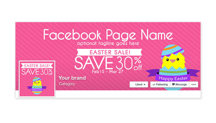 Facebook Timeline Cover with Profile Picture - Easter Sale 1