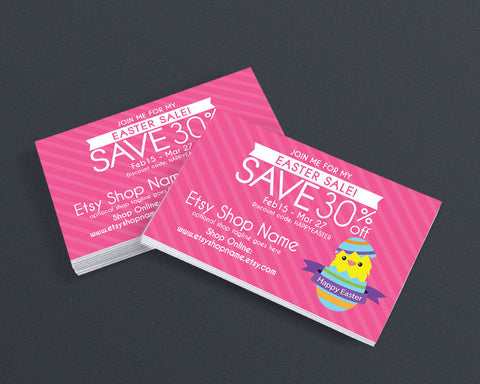 Easter Promotional Business Card Design - Easter Sale Postcard - Easter Sale 3