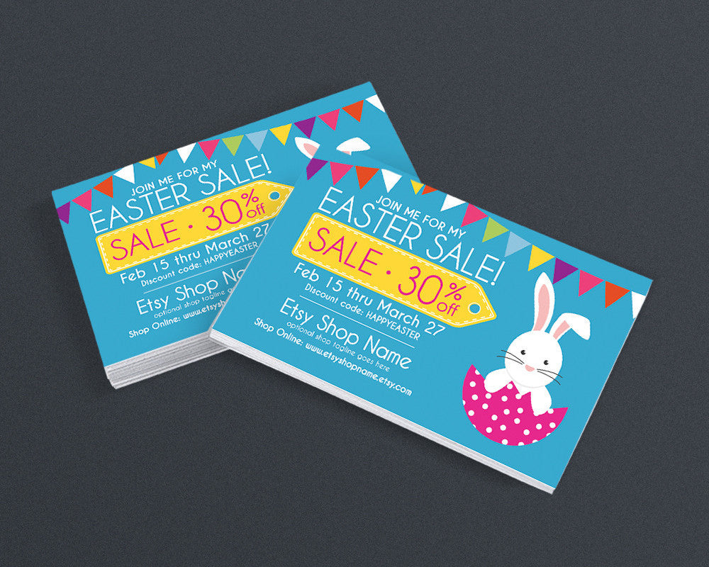 Easter Promotional Business Card Design - Easter Sale Postcard - Easter Sale 4