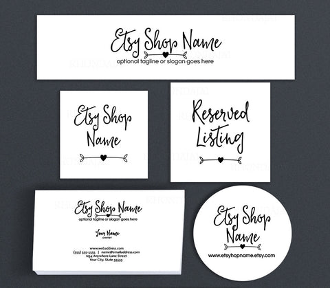 Simple Arrow Etsy Shop Cover Branding Package  - Ella