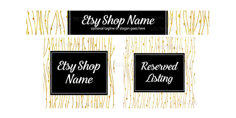 Etsy Banner Set - The Abigail Collection - 3 Piece Etsy Banner Set