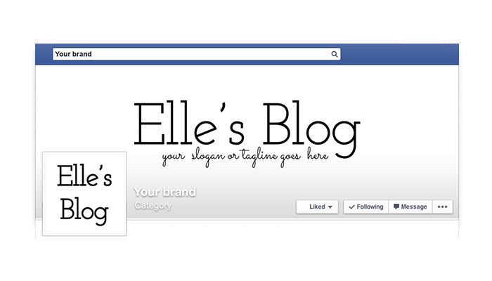 Facebook Timeline Cover with Profile Picture - Elle