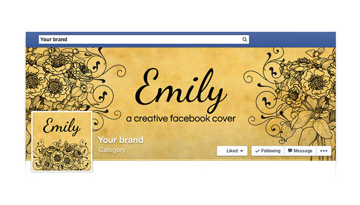 Facebook Timeline Cover with Profile Picture - Emily