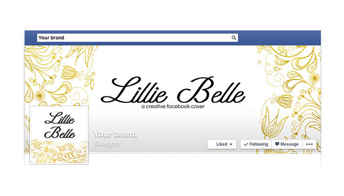 Facebook Timeline Cover with Profile Picture - Lillie Belle