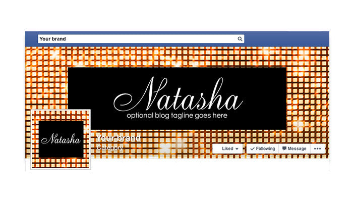 Facebook Timeline Cover with Profile Picture - Natasha