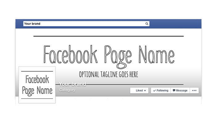 Minimalist 4 -  Facebook Timeline Cover with Profile Picture