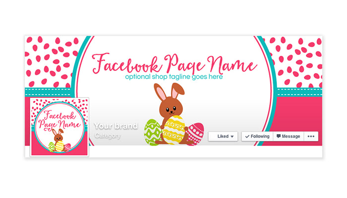 Facebook Timeline Cover with Profile Picture - Holiday Facebook Timeline Cover - Easter Facebook Timeline Cover - Easter 1
