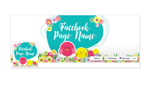 Facebook Timeline Cover with Profile Picture - Easter Facebook Timeline Cover -  Easter 3