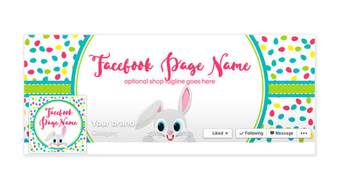 Facebook Timeline Cover with Profile Picture - Easter 4