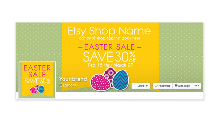 Facebook Timeline Cover with Profile Picture - Easter Sale 3