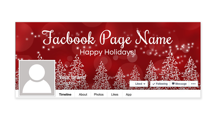 Christmas Facebook Timeline Cover - PS4 - Happy Holiday