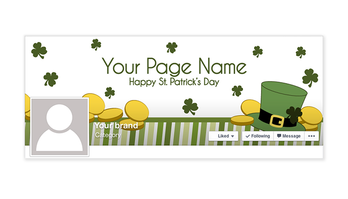 St Patrick's Day Facebook Timeline Cover - 1