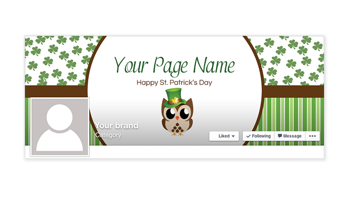 St Patrick's Day Facebook Timeline Cover - 09