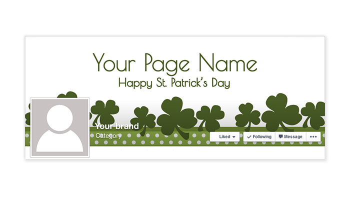 St Patrick's Day Facebook Timeline Cover - 2