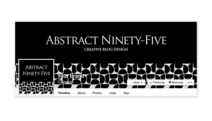 Abstract 95 -  Facebook Timeline Cover with Profile Picture
